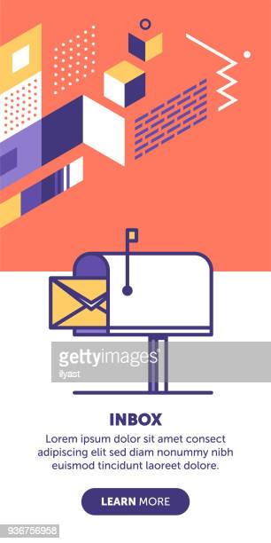 inbox banner - sentando stock illustrations