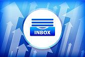 Inbox Blue Up Arrows Background