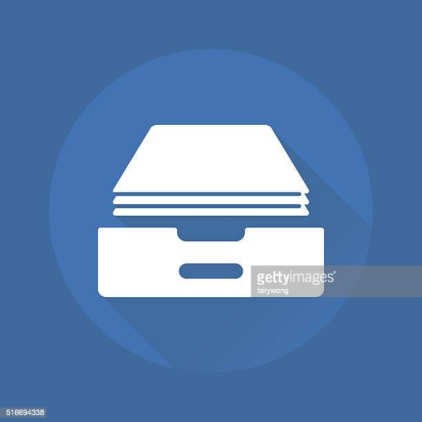 inbox icon - outbox filing tray stock illustrations