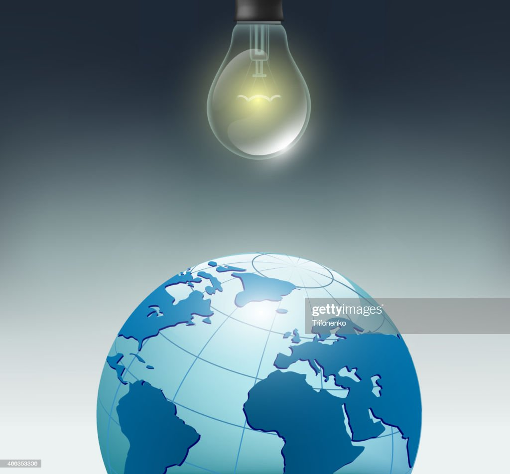 incandescent bulb and planet earth