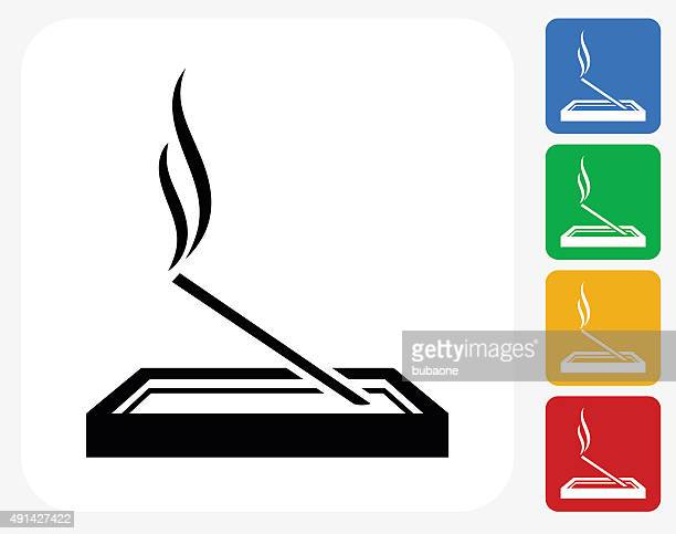 Incense Icon Flat Graphic Design
