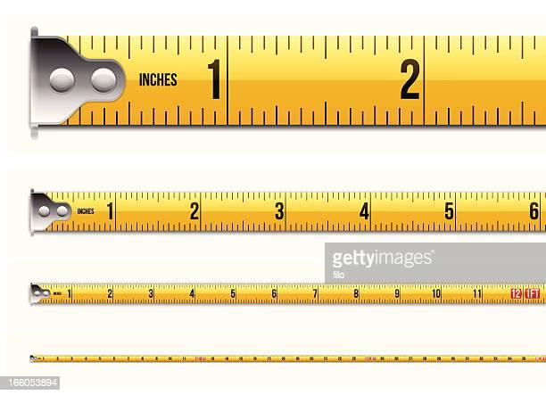 インチと足巻き尺 - ヤードポンド法点のイラスト素材/クリップアート素材/マンガ素材/アイコン素材