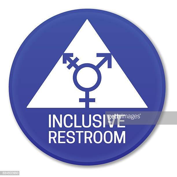 inclusive restroom sign - bathroom stock illustrations, clip art, cartoons, & icons