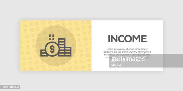 ilustraciones, imágenes clip art, dibujos animados e iconos de stock de banner de web de ingresos - impuesto sobre la renta