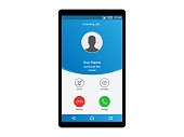 Incoming Call Interface Mobile Concept Vector
