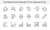 increase decrease icon