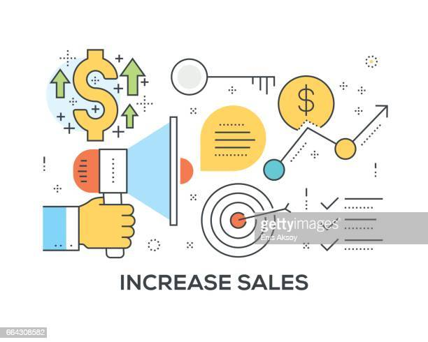 Increase Sales Concept with icons