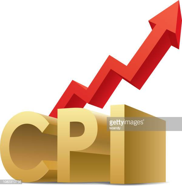 cpi (consumer price index) increase - card file stock illustrations, clip art, cartoons, & icons