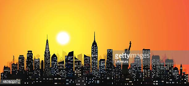 incredibly detailed new york (124 buildings) - chrysler building stock illustrations, clip art, cartoons, & icons