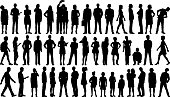 Incredibly Detailed People Silhouettes
