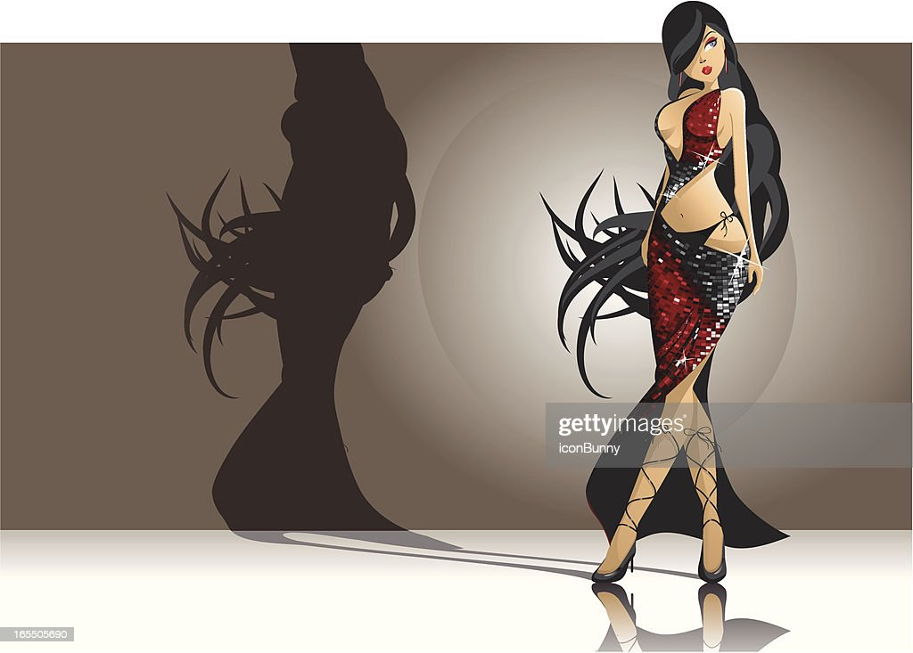 Incredibly Sexy Woman : stock illustration