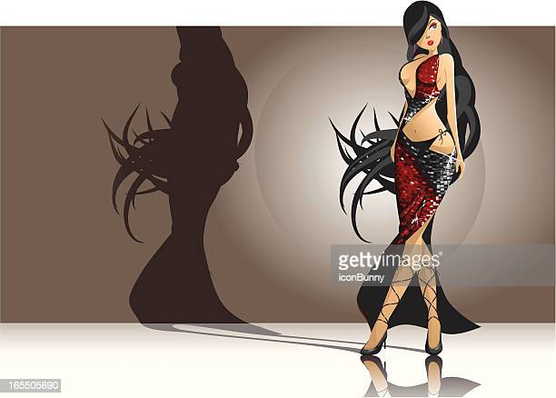 incredibly sexy woman - latin american dancing stock illustrations, clip art, cartoons, & icons