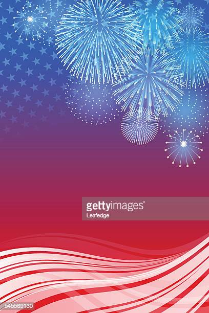 Independence Day background[Fireworks]