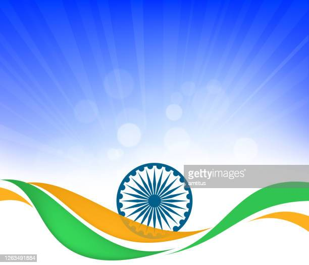 independence day chakra - indian flag stock illustrations