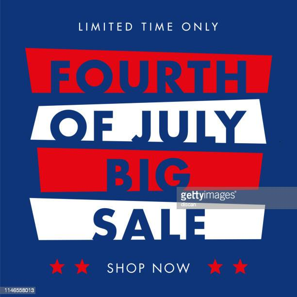 independence day day sale design for advertising, banners, leaflets and flyers. - fourth of july stock illustrations