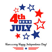 USA independence day greeting card
