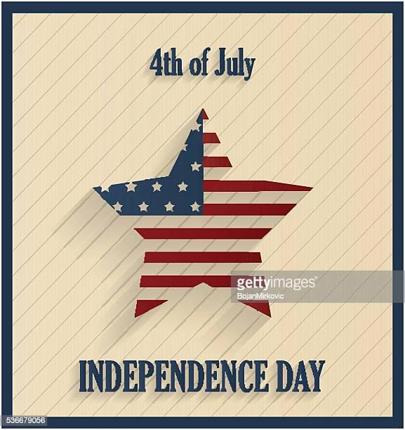 Unabhängigkeit Tag Retro Hintergrund