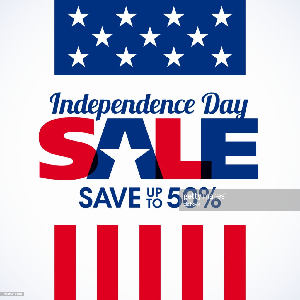 USA Independence Day sale banner