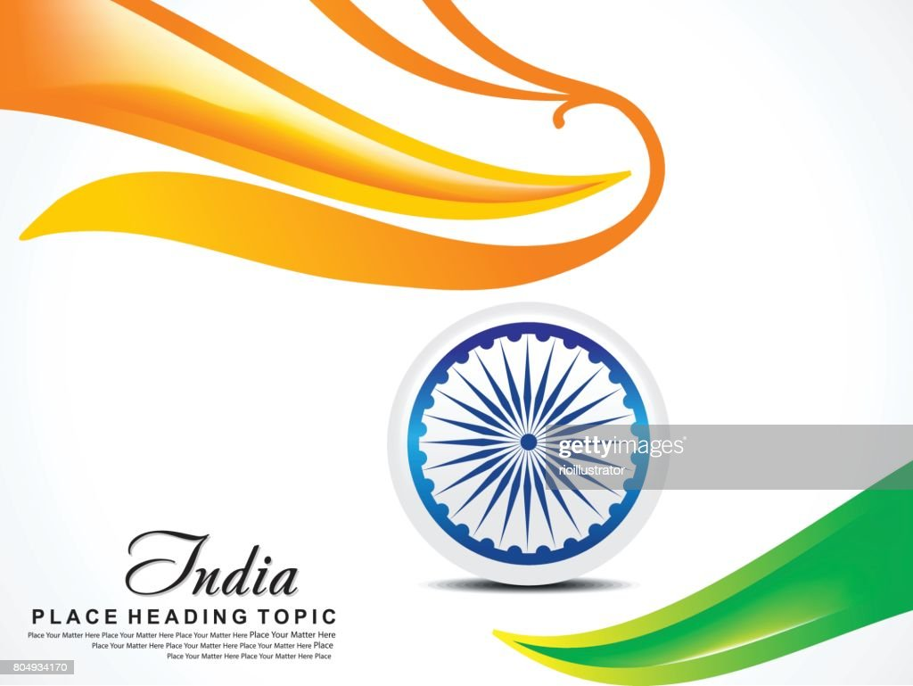 Independence day wave background with ashok chakra