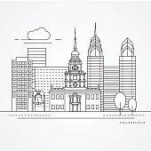 Independence Hall The symbol of Philadelphia, USA.