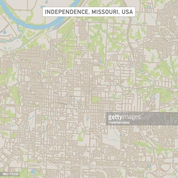 Karte der Unabhängigkeit Missouri USA Stadtstraße