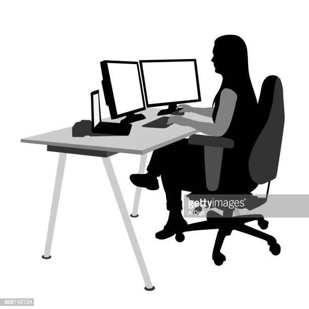 illustrations, cliparts, dessins animés et icônes de développeur web indépendant - génération du millénaire