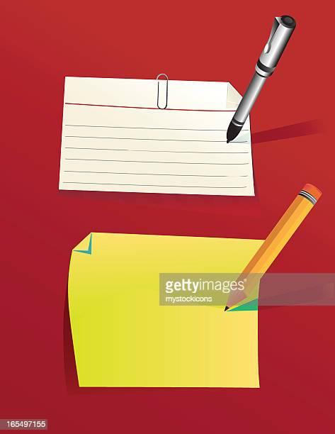 索引カードおよび固定 - インデックスカード点のイラスト素材/クリップアート素材/マンガ素材/アイコン素材