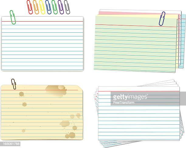索引カード - インデックスカード点のイラスト素材/クリップアート素材/マンガ素材/アイコン素材