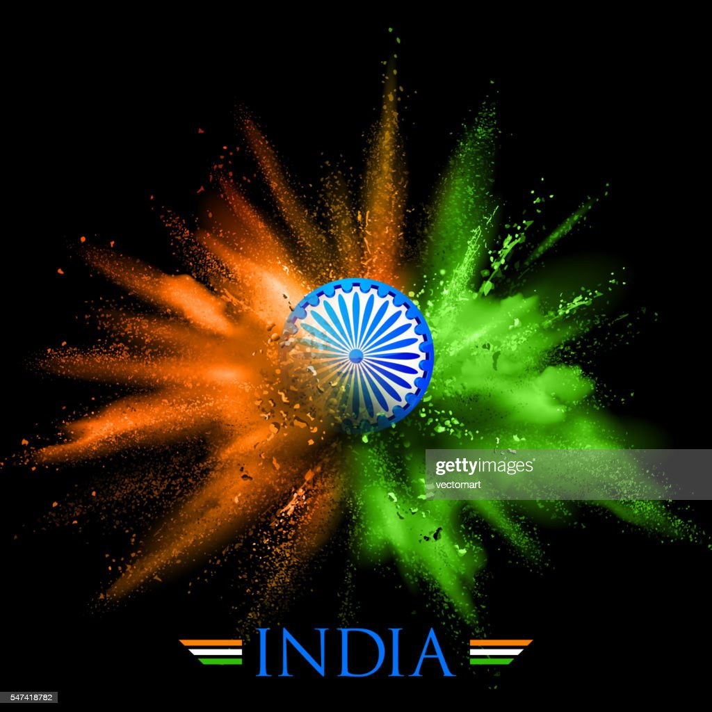 India Background with color blast
