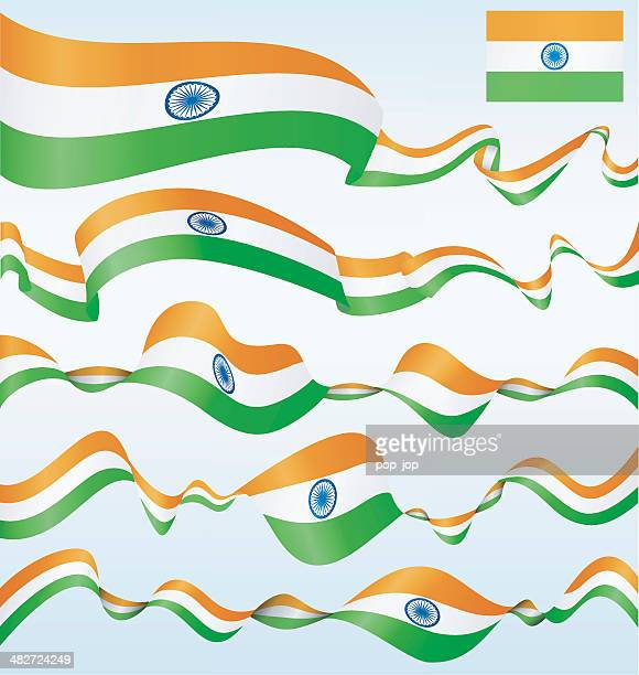 india - banners - indian flag stock illustrations