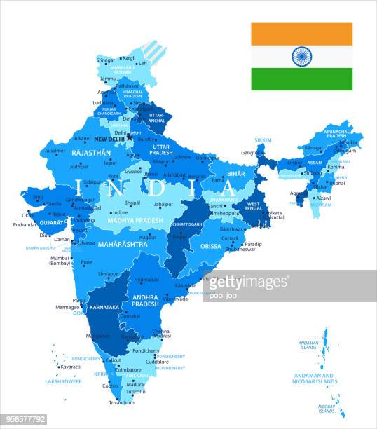 04 - india - blue spot isolated 10 - india politics stock illustrations