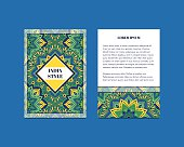 India cards with Floral mandala pattern and ornaments.