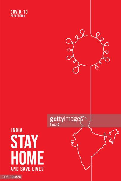 india concept. covid-19 outbreak influenza as dangerous flu strain cases as a pandemic concept banner flat style illustration stock illustration - india stock illustrations