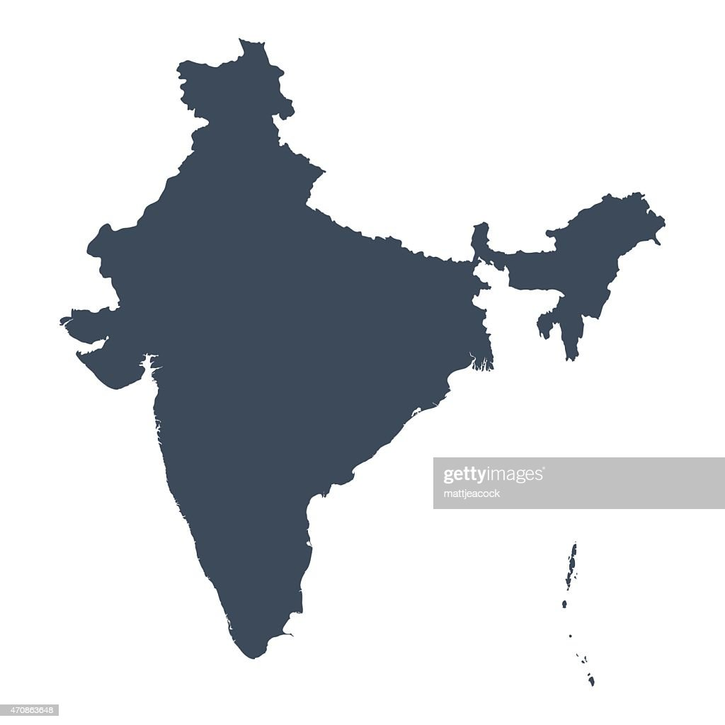 India country map Vector Art India
