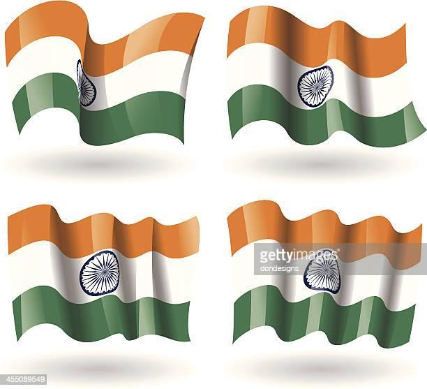 India Flag Waving Set