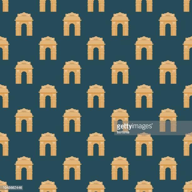 India Gate Seamless Pattern