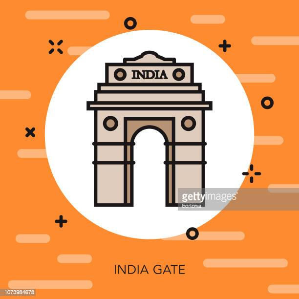India Gate Thin Line Icon