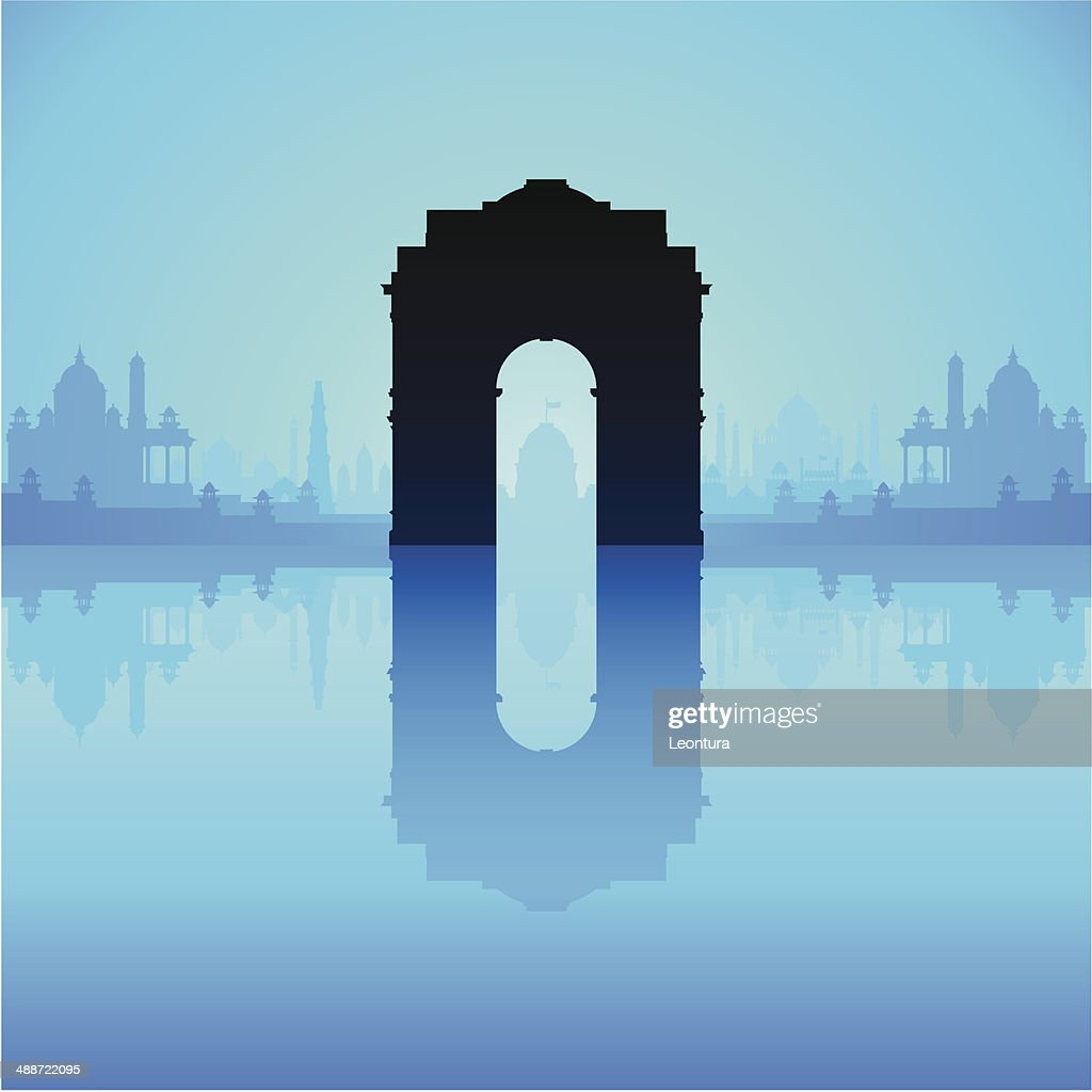 India Gate (Complete, Detailed, Moveable Buildings) : Vector Art