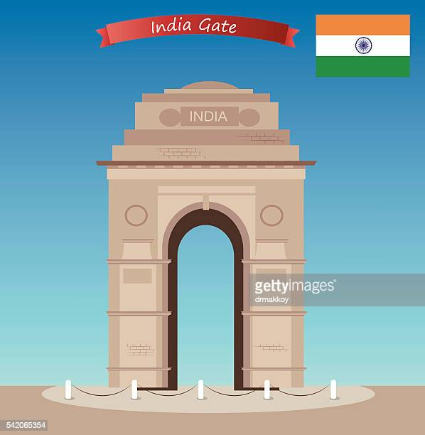 india gate - india gate stock illustrations