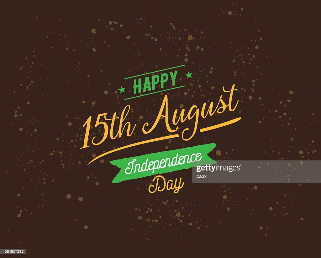 India Independence day, 15th august. Vector emblems.