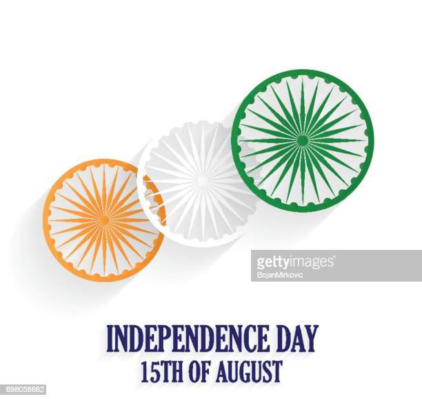india independence day poster. 15th of august. white background - independence stock illustrations
