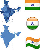 India Map and Flag Collection