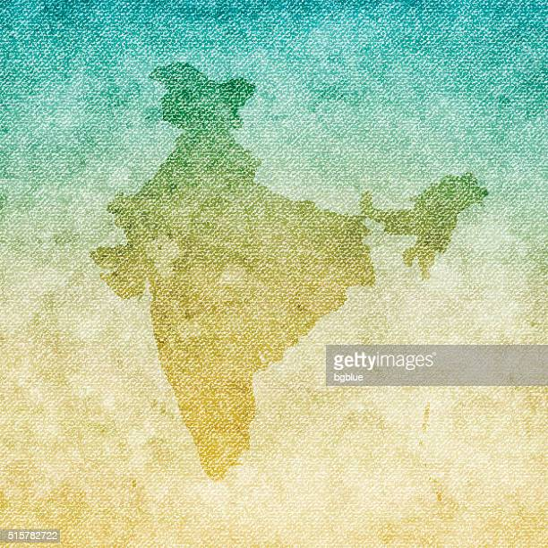 India Map on grunge Canvas Background