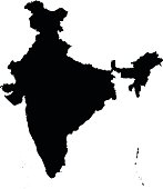 India map on white background vector