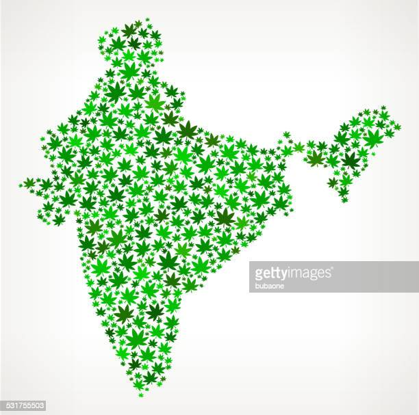 India Map royalty free vector Marijuana Leaves Weed graphic
