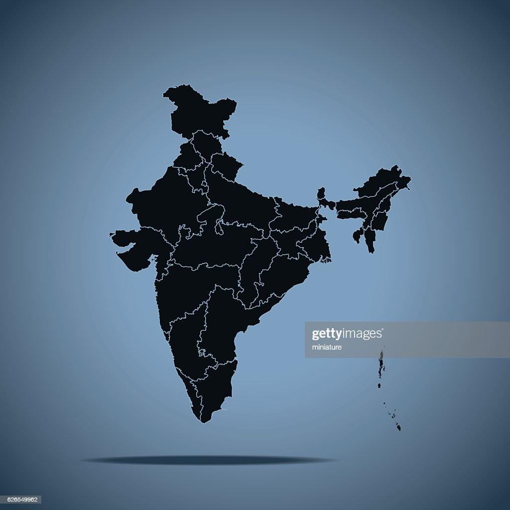 India Map : Vector Art
