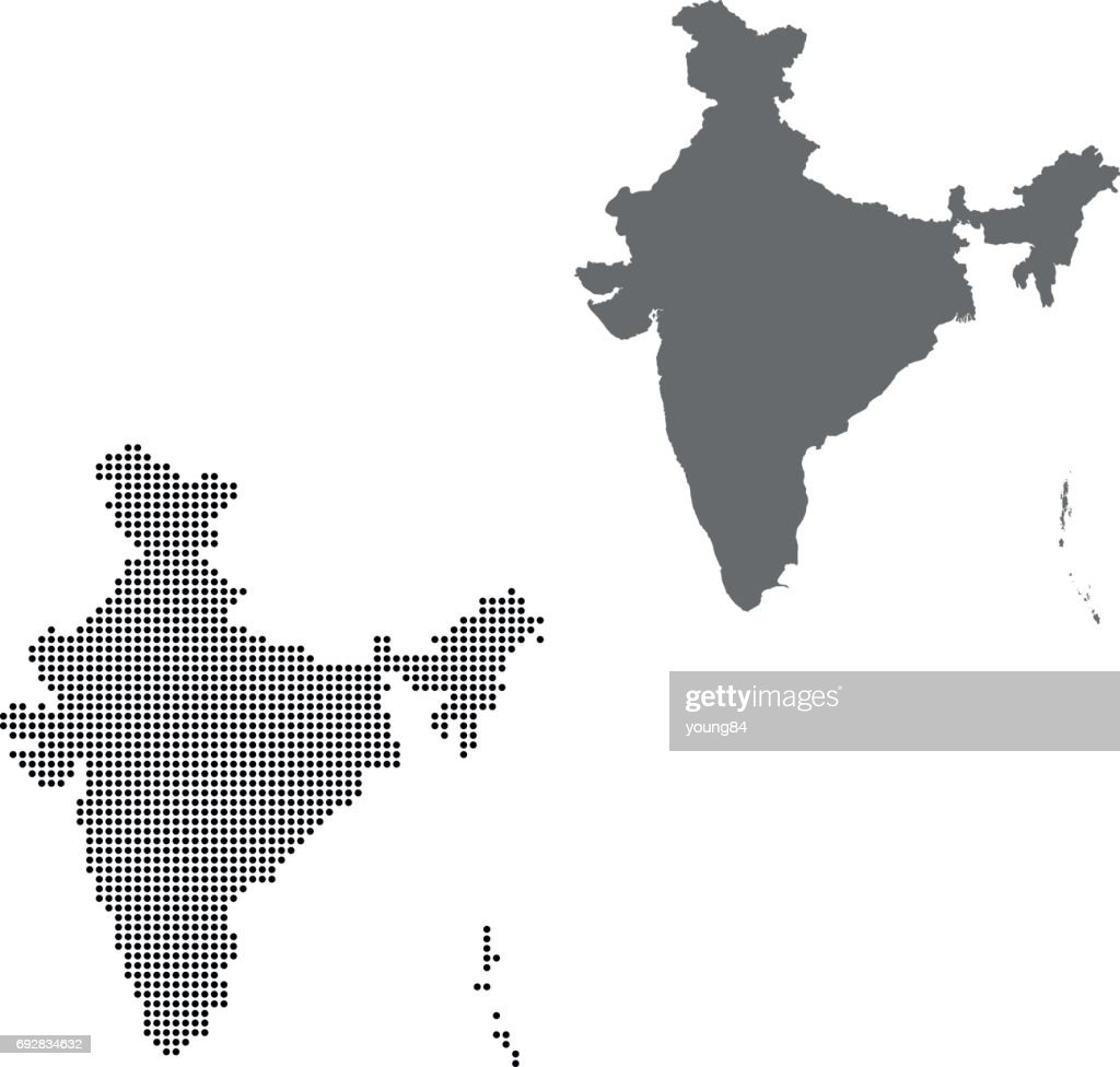 Vector Abstract Dotted Globe; India Map; India Map ...