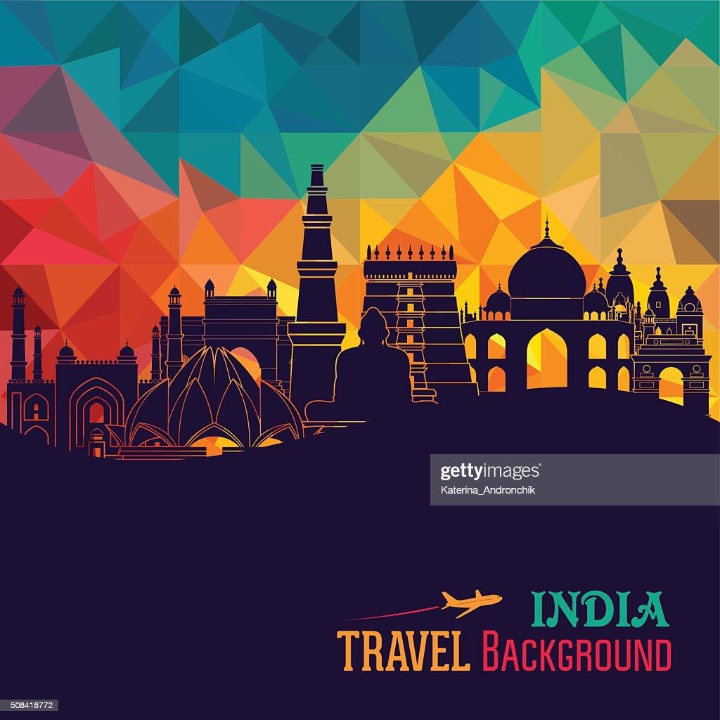India skyline. Vector illustration