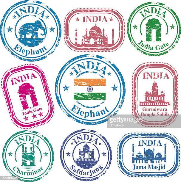 india stamp - new delhi stock illustrations