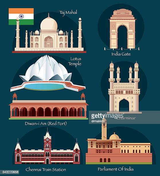 india symbols - chennai stock illustrations